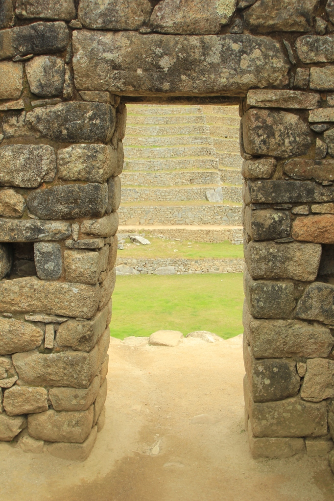 I picture the Inca as hobbit-sized based on their doorways
