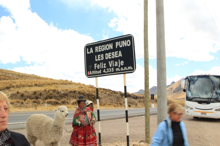 High pass on our way to Puno