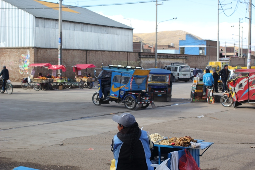 Near the market in Puno