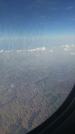 Flying over Zimbabwe